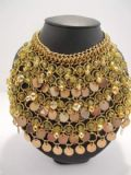 1960's Bib style yellow and gold tone collar